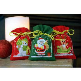 Vervaco Borduurpakket Kruidenzakje Kerstfiguren