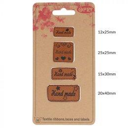 Opry Leren Label - Handmade