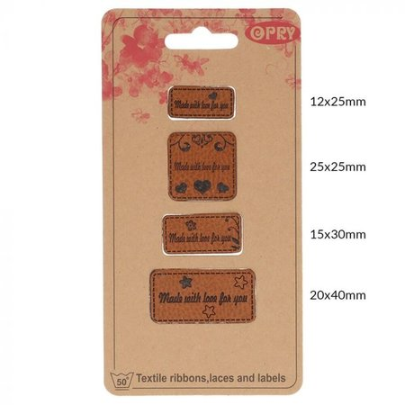 Opry Leren Label - Made with Love for you