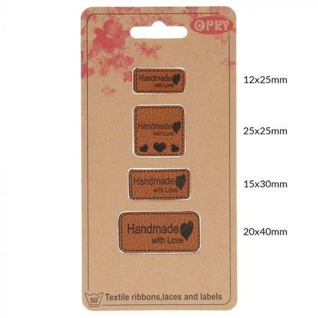 Opry Leren Label - Handmade with Love
