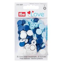 Prym Color Snaps Blauw/Wit