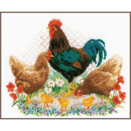 Vervaco Borduurpakket Haan en kippen