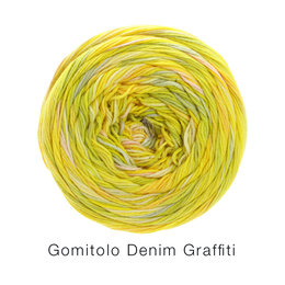 Lana Grossa Gomitolo Denim Graffiti 351 geel/pistache/zalm