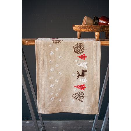 Vervaco Borduurpakket Tafelloper Moderne Kerstmotieven