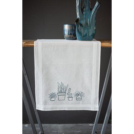 Vervaco Borduurpakket Tafelloper Huiskamerplanten