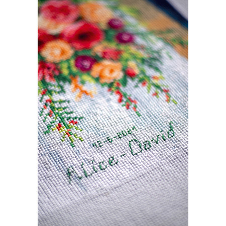 Vervaco Borduurpakket Bruidsboeket