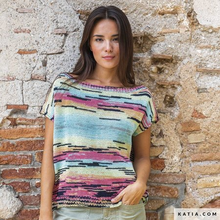 Katia Breipatroon Top met Boothals Meraki