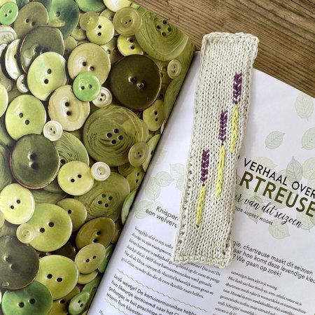 Caro's Atelier Haak- & Breipatroon Lavendel Boekenlegger