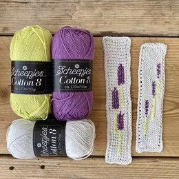 Caro's Atelier Haak- & Breipakket: Boekenlegger Lavendel