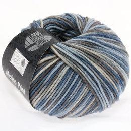 Lana Grossa Cool Wool Print 763 - licht blauw/grège/grijs bruin/blauwgrijs