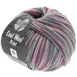 Lana Grossa Cool Wool Print 815 - antieke violet/oudroze/licht grijs/middelen grijs