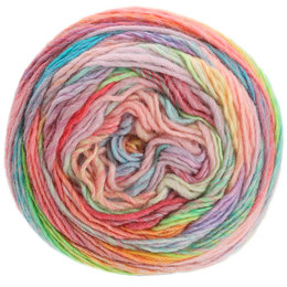 Lana Grossa Colorissimo 11 - zalm/koraal/oranjegeel/geel/turkoois/sering