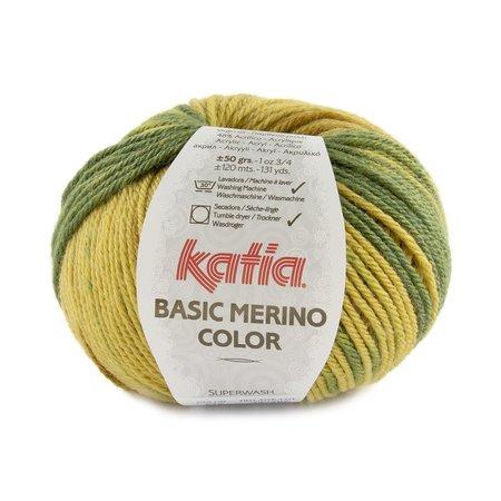Katia Basic Merino Color 212 - Groen/Okerbruin