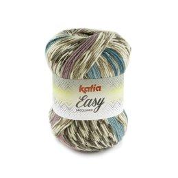 Katia Easy Jacquard 100 - Bleekbruin/Bleekrood/Groenblauw