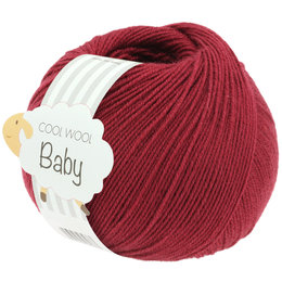 Lana Grossa Cool Wool Baby 281 - Wijnrood