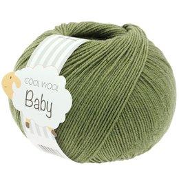 Lana Grossa Cool Wool Baby 287 - Donker Olijf