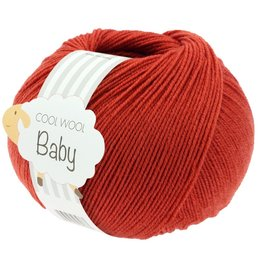 Lana Grossa Cool Wool Baby 289 - Donker Rood