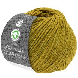 Lana Grossa Cool Wool Big Melange GOTS 208 - Donker Olijf Geel Gemêleerd