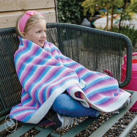 Durable Haakpatroon Happy Unicorn Stripes Blanket