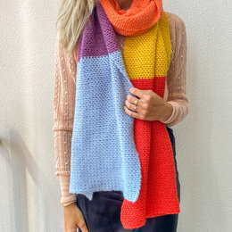 Lana Grossa Haakpakket: Caro's Colourblock Sjaal