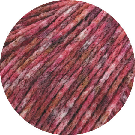 Lana Grossa Cool Merino Print 101 - Rood/Roze/Grijs/Donker Rood