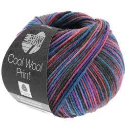 Lana Grossa Cool Wool Print 821 - Marine/Bourgondisch/Violet/Antraciet