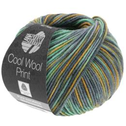 Lana Grossa Cool Wool Print 824 - Oker/Mint/Grijs