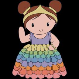 Caro's Atelier Haakpatroon Regenboog Prinses Outfit Carolientje (digitaal)