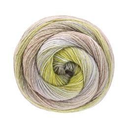 Lana Grossa Gomitolo Maya 854 - grijs beige/taupe/munt/sering/pistache/olijf