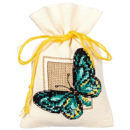 Vervaco Borduurpakket Kruidenzakje  Vlinders