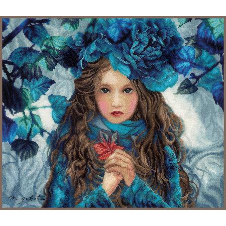 Lanarte Borduurpakket Blue Flowers Girl