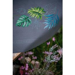 Vervaco Borduurpakket Tafelkleed Botanische Bladeren