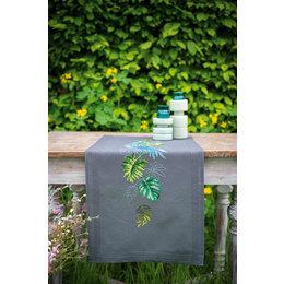 Vervaco Borduurpakket Tafelloper Botanische Bladeren