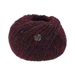 Lana Grossa Fashion Tweed 06 -  Donker Rood/Zwart Gemêleerd