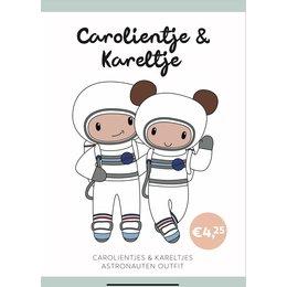 Caro's Atelier Haakpatroon Astronauten  outfit Carolientje & Kareltje (boekje)