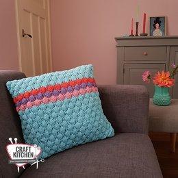 Durable Breipatroon: Colour Pop Bubble Kussen
