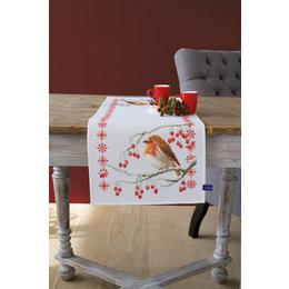 Vervaco Borduurpakket Loper Roodborstjes met rode besjes