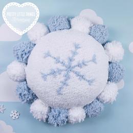 Scheepjes Breipakket: Snowflake Fluff Cushion