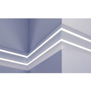 Grand Decor Polyurethaan - LED sierlijst voor indirecte verlichting, KF502 (75 x 36 mm), lengte 2 m