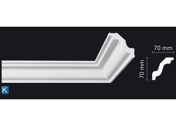 NMC Kroonlijst Nomastyl K (70 x 70 mm), lengte 2 m
