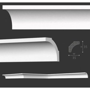 NMC Kroonlijst Nomastyl B2+ (35 x 35 mm), lengte 2 m