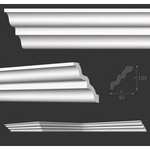 NMC Kroonlijst Nomastyl SM+ (105 x 95 mm), lengte 2 m