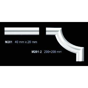 Grand Decor M201-2 hoekbochten (200 x 200 mm), polyurethaan, set (4 hoeken)