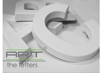 Art Décor 3D Letters Alfabet en Symbolen Polyurethaan hoogte ca. 20 cm