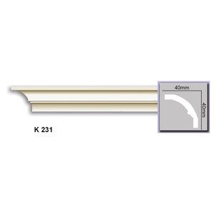 Grand Decor Kroonlijst K231 (40 x 40 mm), polyurethaan, lengte 2 m