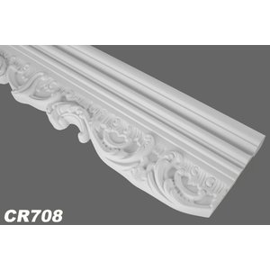 Grand Decor CR708 (138 x 40 mm), lengte 2 m, Polyurethaan stootvast