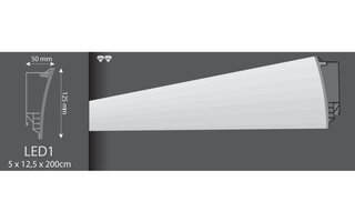 Vidella SET LED1 (sierlijst met ophangsysteem), lengte 2 m