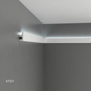 Grand Decor Polyurethaan - LED sierlijst voor indirecte verlichting, KF501 (62 x 25 mm), lengte 2 m
