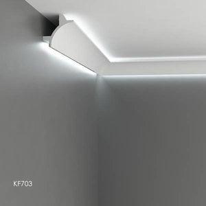 Grand Decor Polyurethaan - LED sierlijst voor indirecte verlichting, KF703 (90 x 90 mm), lengte 2 m
