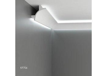 Grand Decor Polyurethaan - LED sierlijst voor indirecte verlichting, KF706 (115 x 115 mm), lengte 2 m